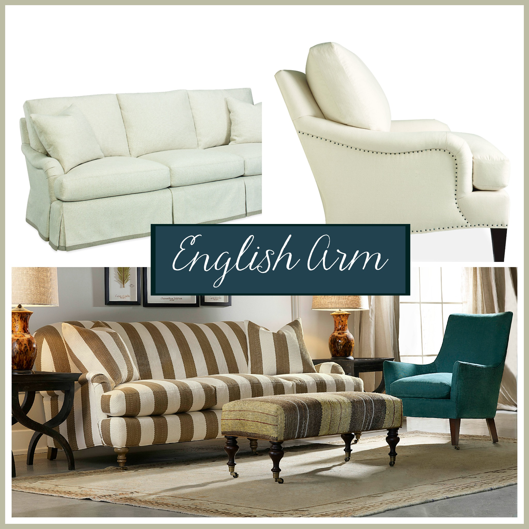 Sofa arm style: The English arm | The Stated Home