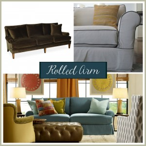 Sofa arm style: The rolled arm | The Stated Home