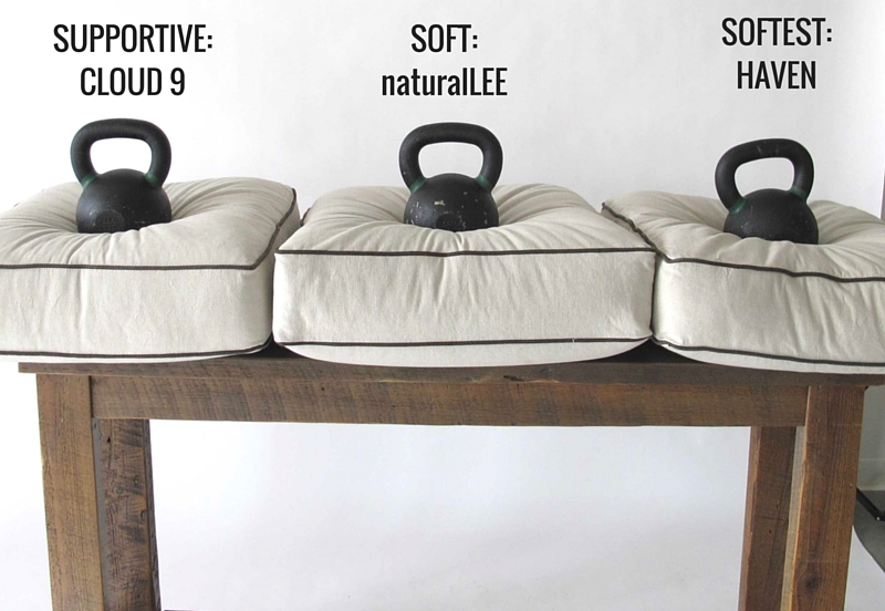cushions with weight