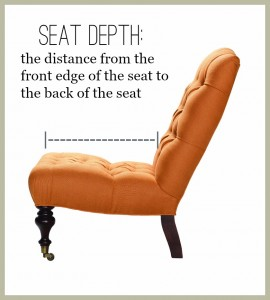 Furniture Comfort: Seat Depth | The Stated Home