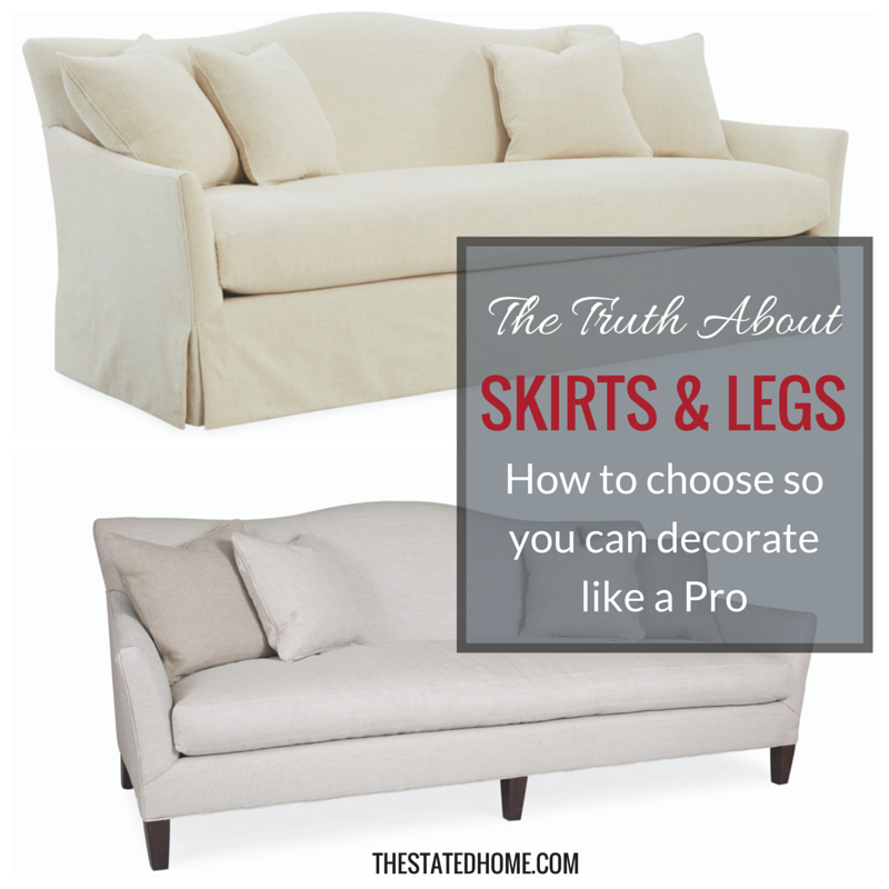 How to Decorate with Sofa Skirts and Legs | The Stated Home