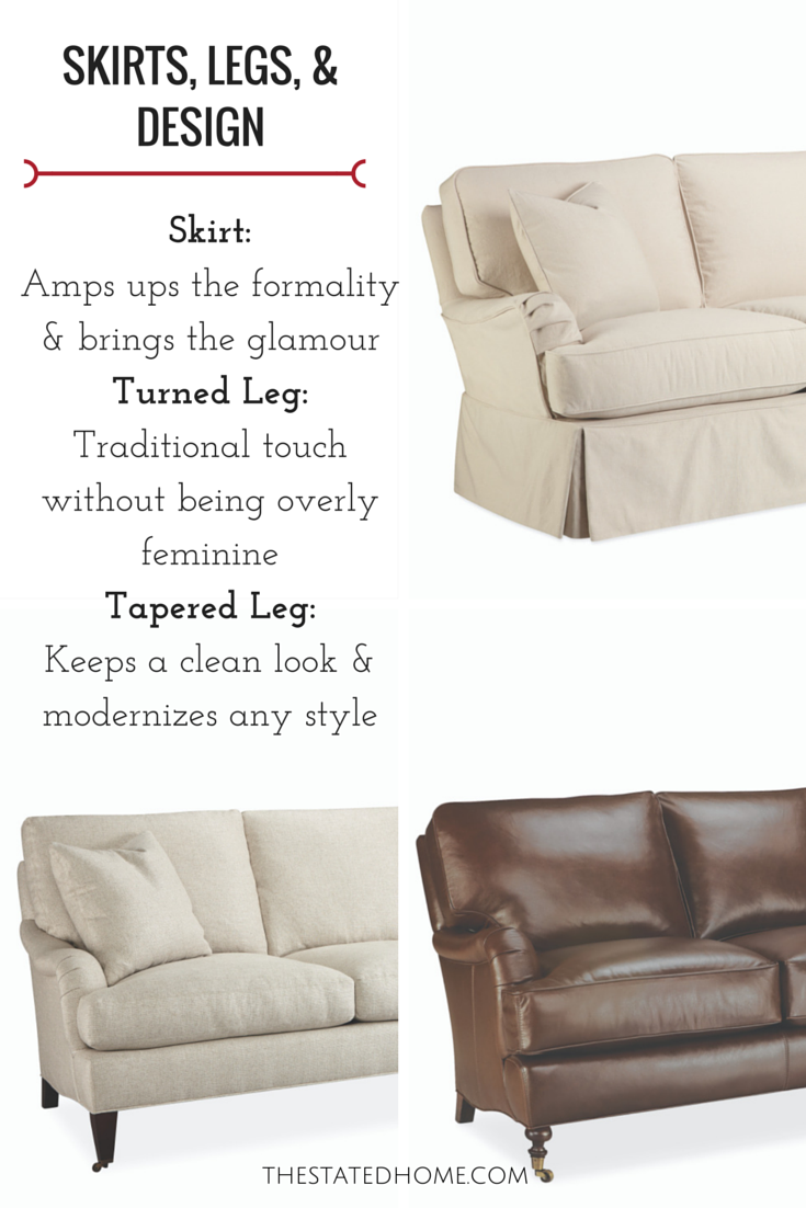 Sofa Skirt and Legs Design Principles| The Stated Home