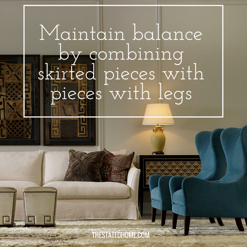 Choosing a Sofa Skirt or Legs| The Stated Home