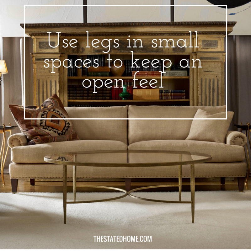 How to Decide Between a Sofa Skirt and Legs| The Stated Home