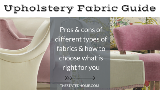 Types of Upholstery Fabric | The Stated Home
