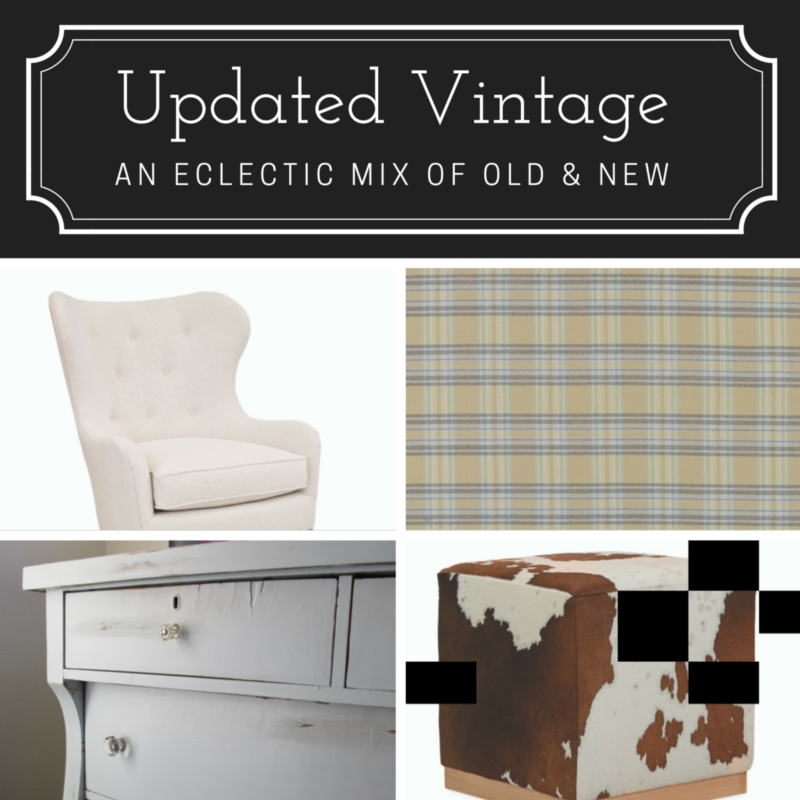 Transitional Decorating Style: Updated Vintage