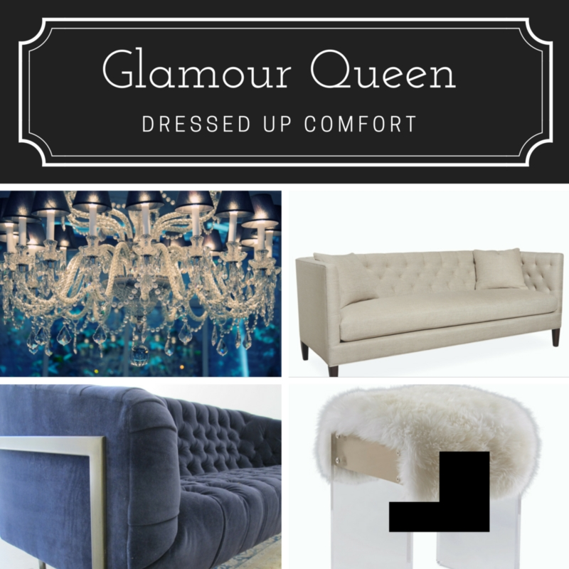 Transitional Decorating Style: Glamour Queen