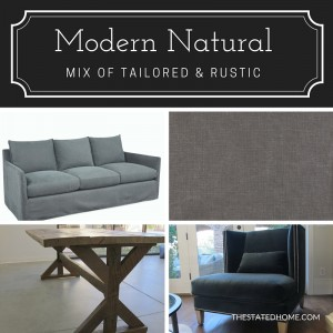 Transitional Decorating Style: Modern Natural