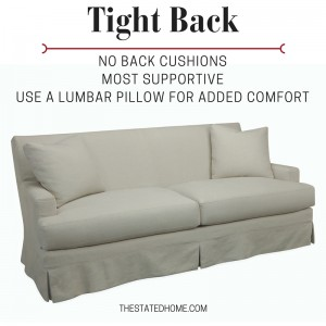 Furniture Comfort: Tight back sofa   The Stated Home