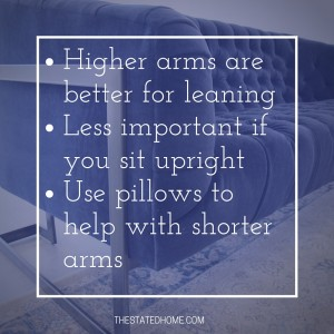 Low Sofa Arms or Tall Sofa Arms? | The Stated Home
