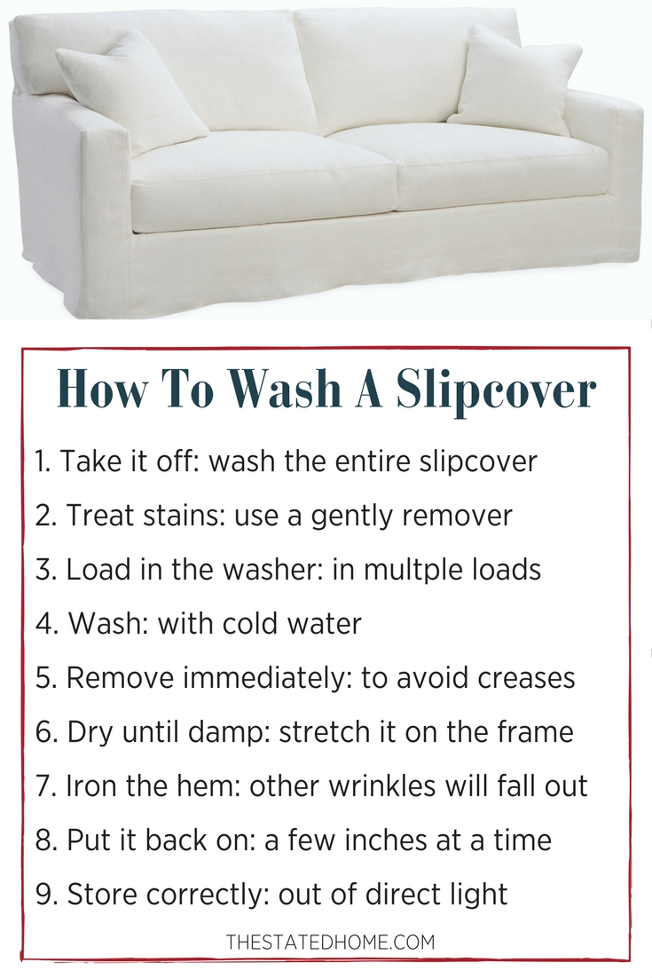 How To Clean Slipcovers The Stated Home