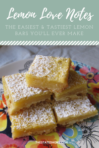 Easy Lemon Bars | The Stated Home