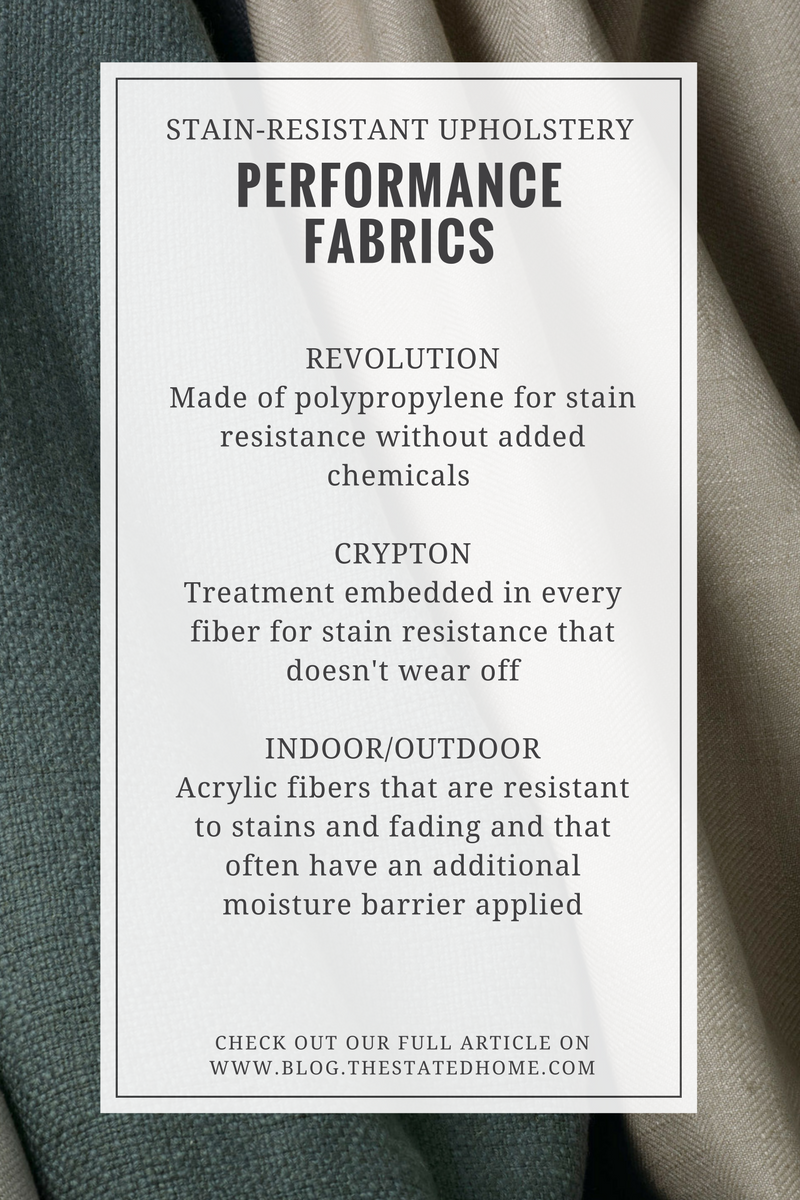 Stain-Resistant Upholstery Fabric | The Stated Home