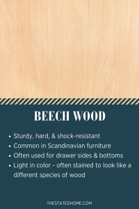 Types of Wood for Furniture: Beech | The Stated Home