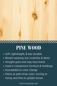 Types of Wood for Furniture: Pine | The Stated Home