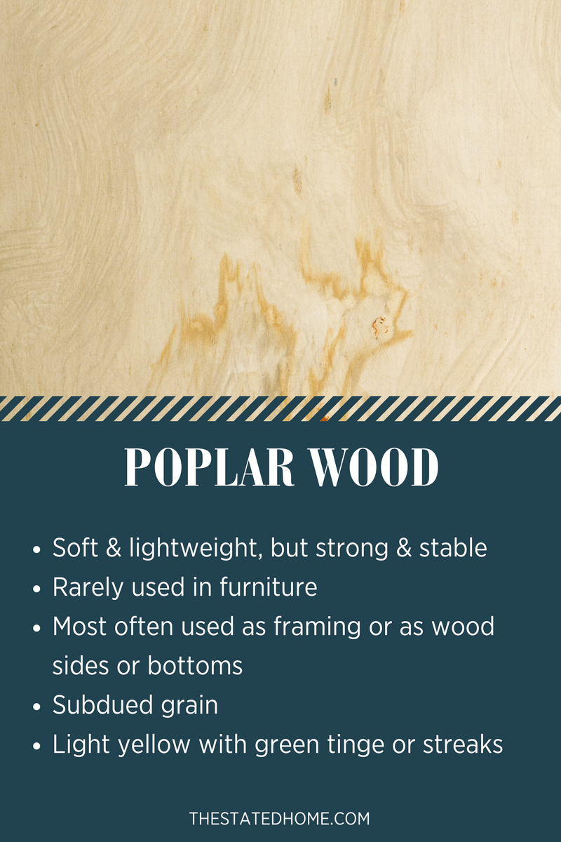 Types of Wood for Furniture: Poplar | The Stated Home