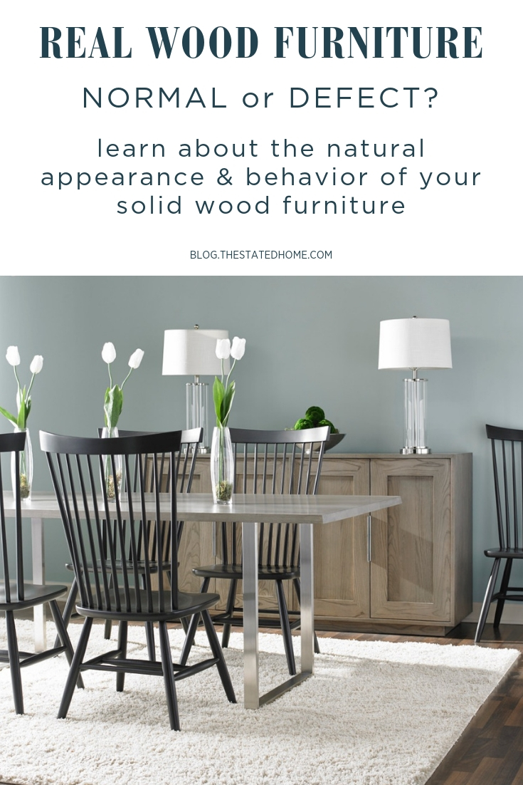 Wood furniture is still living after it is made into furniture - learn what to expect with your real wood furniture.