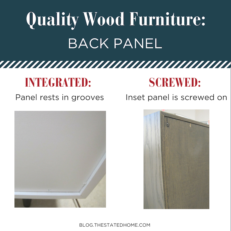Quality Wood Furniture: Back Panel | The Stated Home