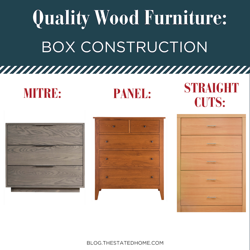 Quality Wood Furniture: Box Construction | The Stated Home