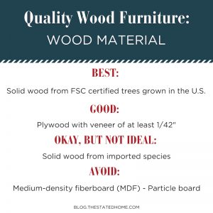 Quality Wood Furniture: Wood Material | The Stated Home
