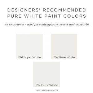 Best Pure White Paint for Walls | The Stated Home