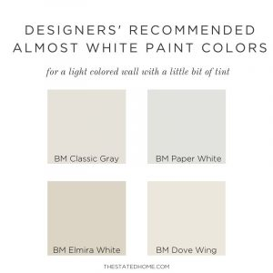 Best Almost White Paint for Walls | The Stated Home